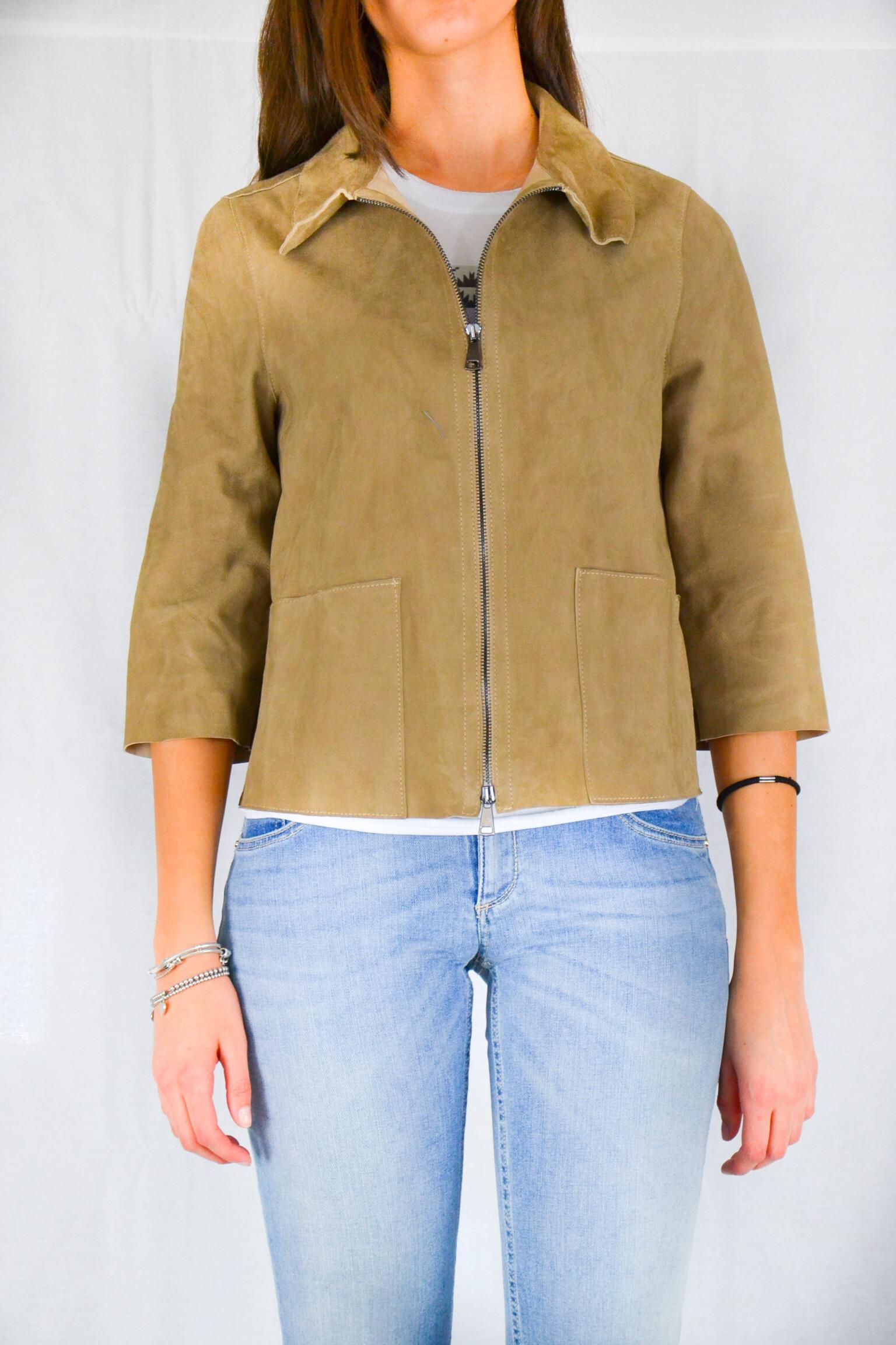 new style 6a5a6 bca31 GIACCA RENNA BEIGE Vintage De Luxe - Sabi Abbigliamento