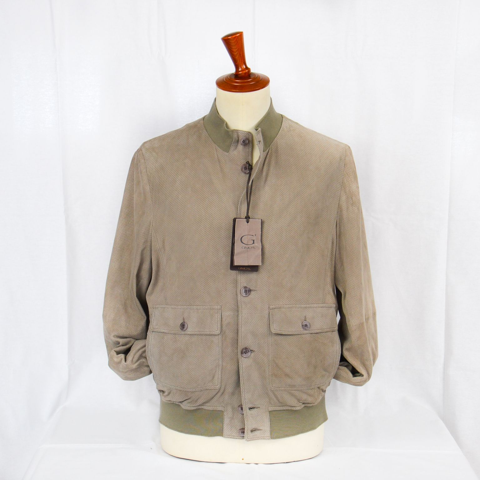 a basso prezzo 85099 d9d7e GIUBBINO RENNA BEIGE TRAFORATO Gimo's - Sabi Abbigliamento